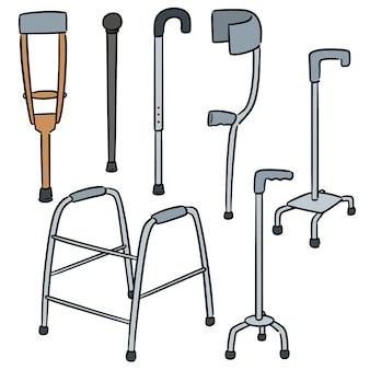 Vector set di bastone da passeggio
