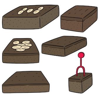 Vector set di brownies
