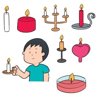 Vector set di candela