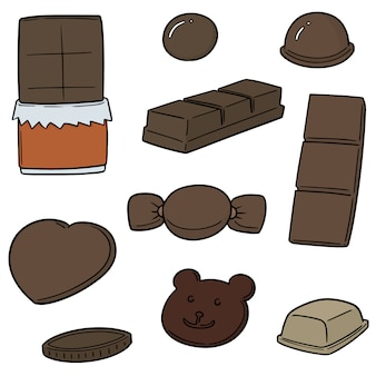 Vector set di cioccolato