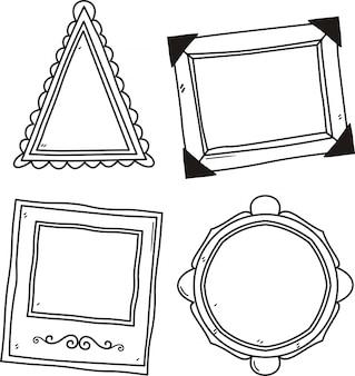 Vector set di cornici per foto d'epoca