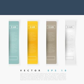 Vector set di etichette rettangolo vuote