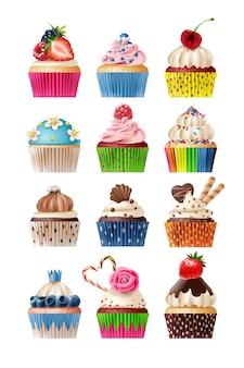 Vector set di icone dolci