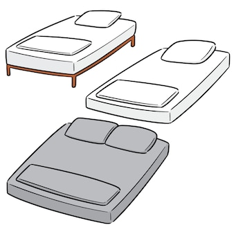 Vector set di letto
