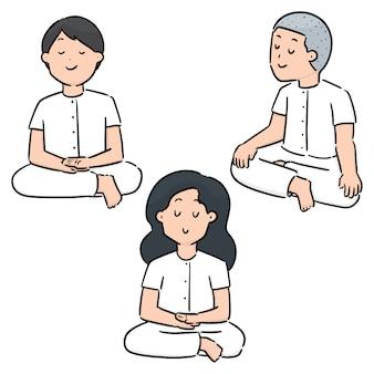 Vector set di meditazione
