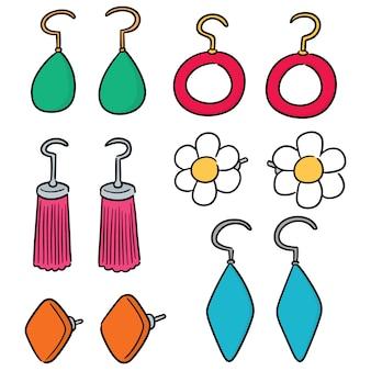 Vector set di orecchini
