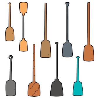 Vector set di paddle