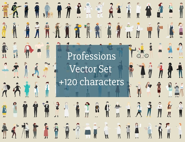 Vector set di persone illustrate