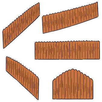 Vector set di recinzione