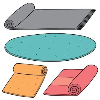 Vector set di tappetino