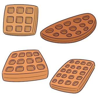Vector set di waffle