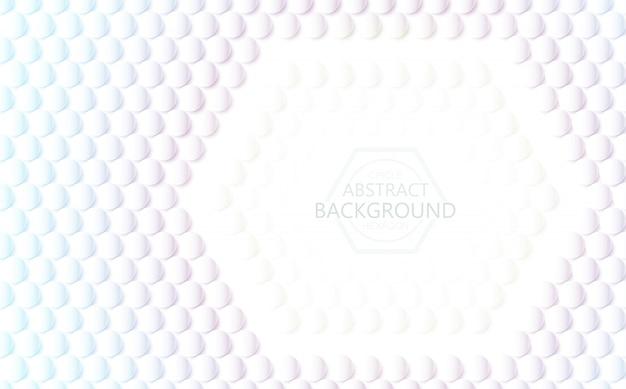 Vector sfondo bianco 3d esagono e cerchio trama astratta.