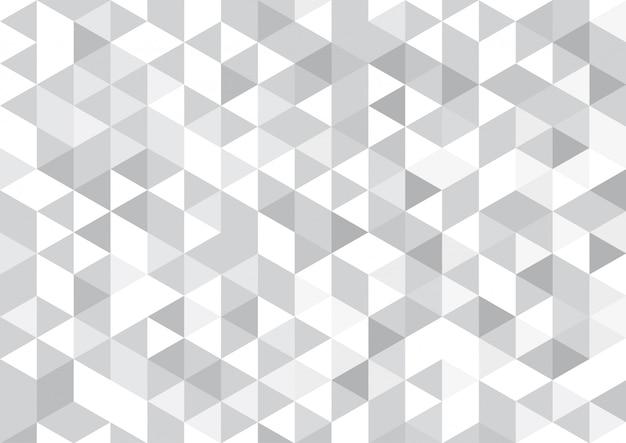 Vector sfondo geometrico, mosaico di triangoli e cubi in morbido grigio
