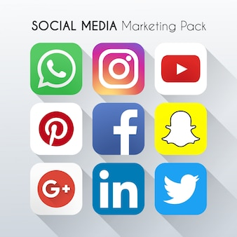 Vector social media marketing icona