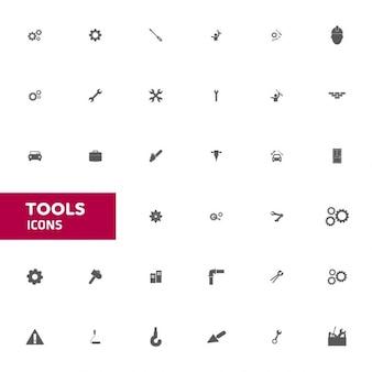 Vector strumenti icon set