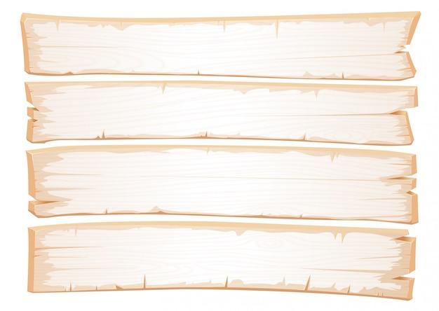 Vector trama bianca in legno. vecchie tavole di legno malandato.