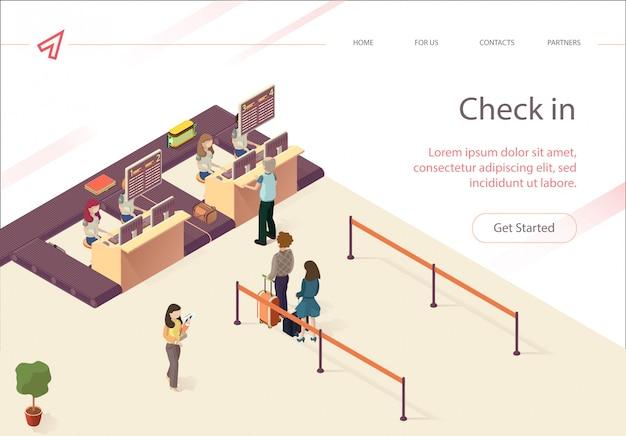 Vector verifica documenti di verifica per passeggeri.