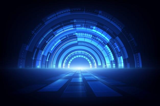 Velocità astratta della tecnologia. sfondo