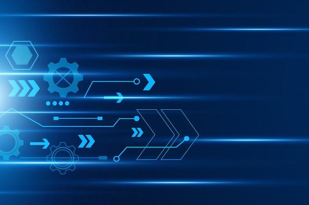 Velocità della freccia, tecnologia vettoriale astratto