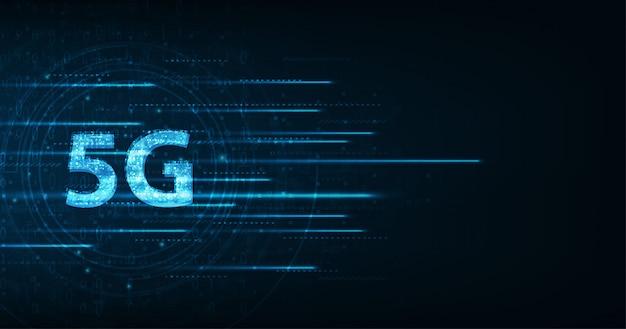 Velocità di trasmissione dati ad alta velocità della connessione globale della rete sfondo scuro