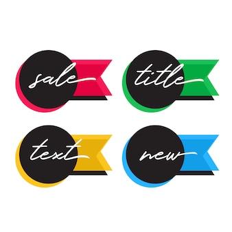 Vendere e offrire tag in diversi colori