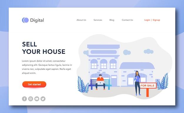 Vendi la pagina di destinazione della tua casa