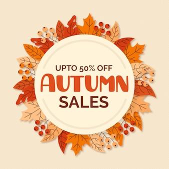 Vendita autunno design piatto