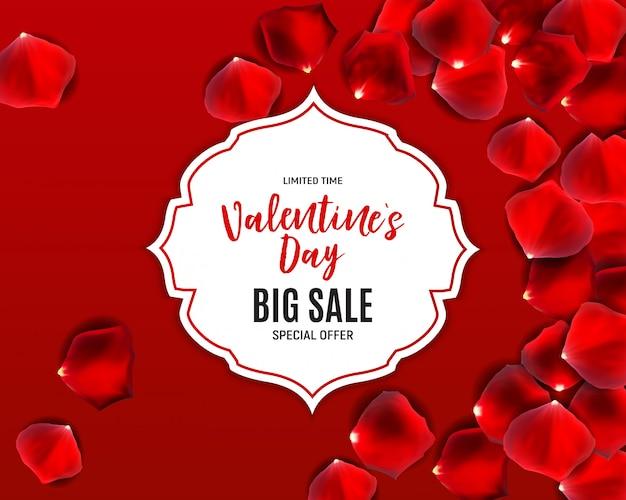 Vendita di amore e sentimenti per san valentino. illustrazione