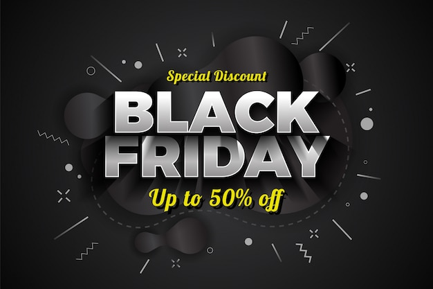 Vendita di black friday speciale sconto banner design.