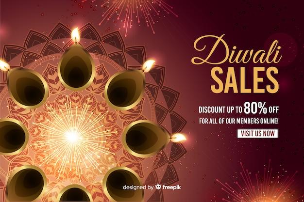 Vendita di design piatto diwali