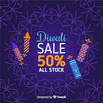 Vendita di diwali disegnata a mano sconto del 50%