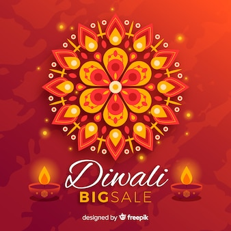 Vendita di diwali piatta con candele