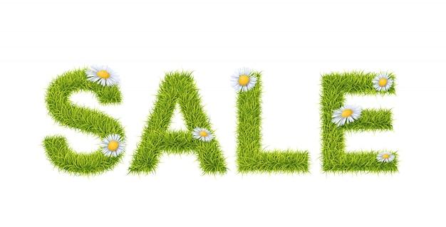 Vendita di erba verde