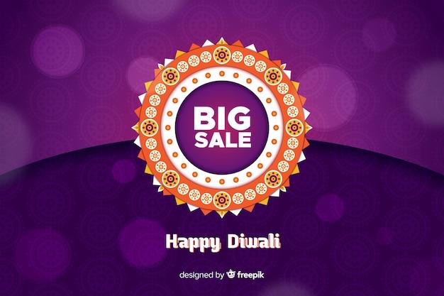 Vendita di eventi diwali design piatto