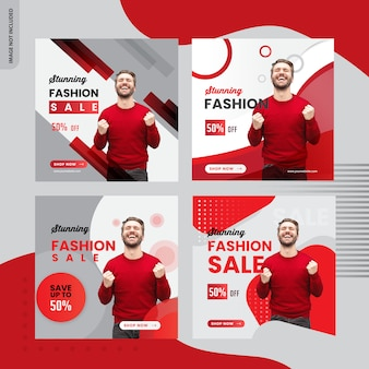 Vendita di moda, design di banner post instagram