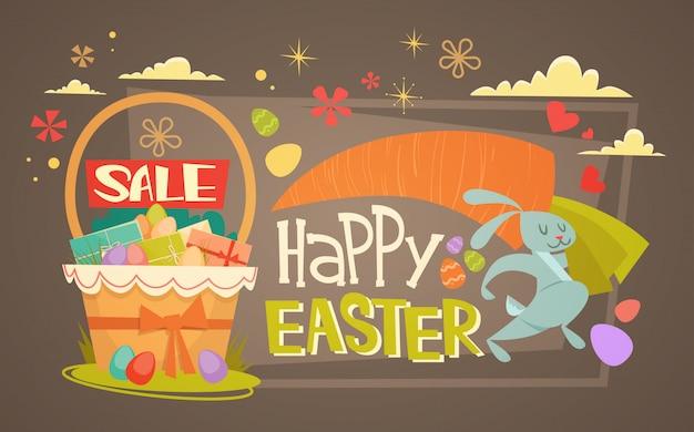 Vendita di pasqua shopping offerta speciale banner per le vacanze