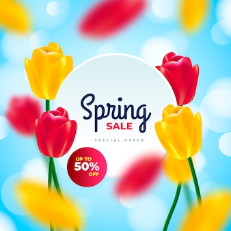 Vendita di primavera offuscata