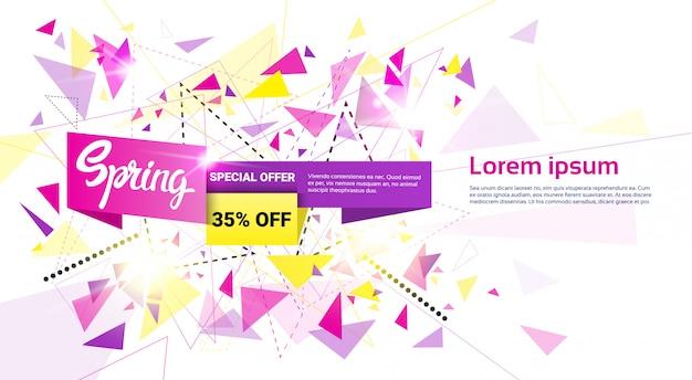 Vendita di primavera shopping offerta speciale banner di vacanza