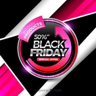 Vendita di prodotti banner venerdì nero