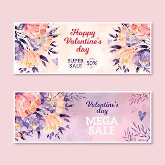 Vendita di san valentino dell'acquerello