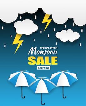 Vendita di stagione dei monsoni