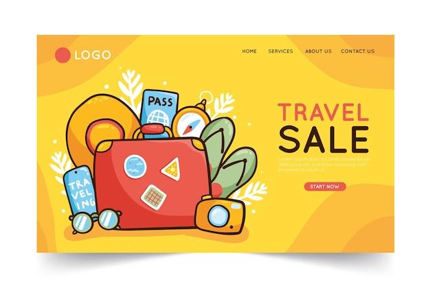 Vendita di viaggi - concetto di pagina di destinazione