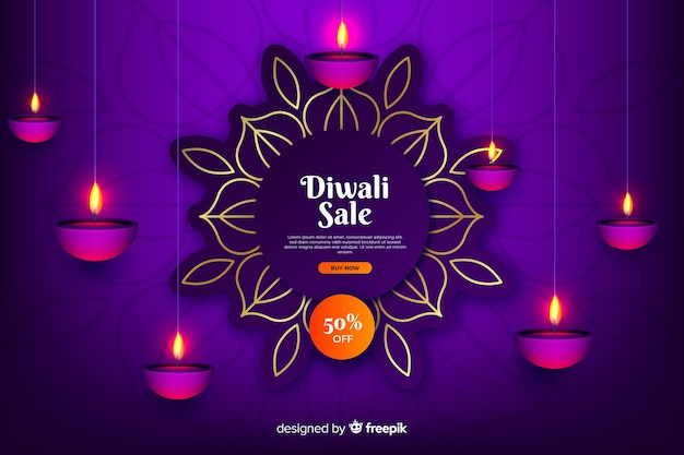Vendita diwali in stile sfumato