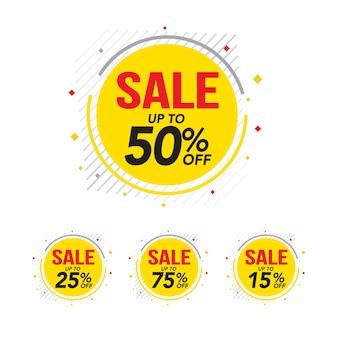 Vendita e offerta speciale tag, cartellini dei prezzi