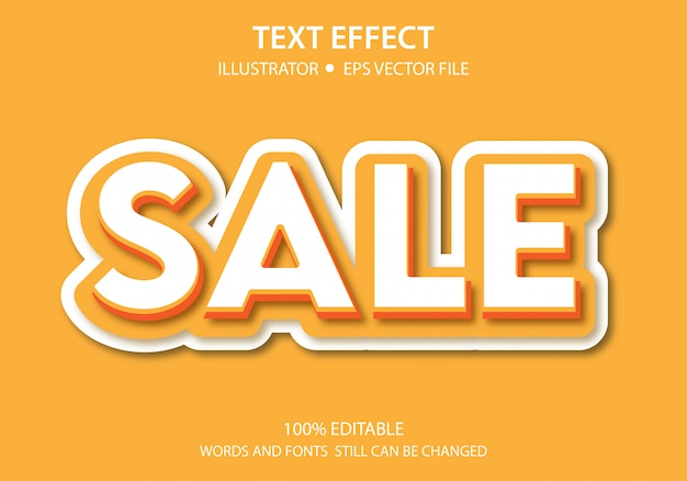 Vendita effetto testo modificabile