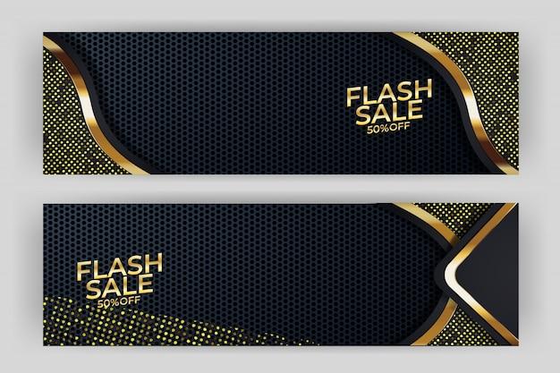 Vendita flash banner sfondo design di lusso