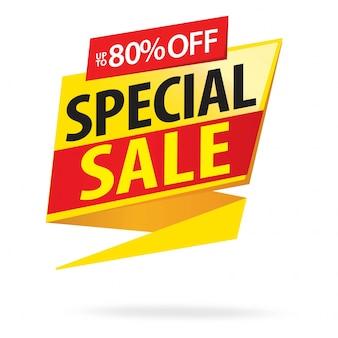 Vendita, offerta speciale e design di cartellini dei prezzi
