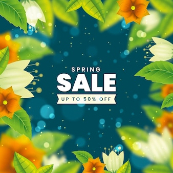 Vendita promozionale primavera offuscata