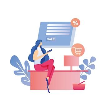 Vendita su internet ricerca di pagamenti commercio online