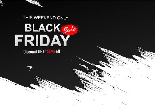Vendita venerdì nero moderno per pennellata